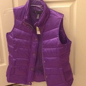INC NWT orchid down puffer vest very warm sz Med